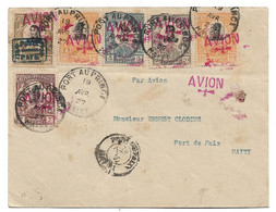 (C01) - HAITI - FIRST FLIGHT AIR MAIL COVER PORT AU PRINCE => PORT DE PAIX 1927 (6 STAMPS) - Haiti