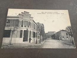 Carte Postale Malakoff La Tour .Avenue Wilson .la Poste Et La Crêche N 1844 - Malakoff
