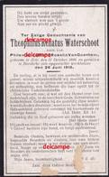 OORLOG Guerre Theo Waterschoot Zele Gesneuveld Bombardement D'une Usine De Munitions Bousbecque Wervicq Sud 26 JUN 1918 - Devotieprenten