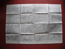 Carte Corps D'Etat-major Dépôt De La Guerre 1914 CAMBRAI Péronne Le Cateau Bapaume Caudry Marcoing Gonzeaucourt Nurlu - Documents