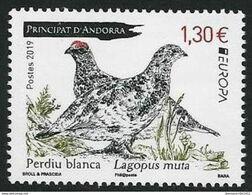 "ANDORRA FRANCESA /ANDORRE FRANÇAIS  -EUROPA 2019 -NATIONAL BIRDS.-""AVES -BIRDS -VÖGEL-OISEAUX""-  SERIE 1 TIMBRE - 2019"