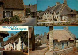 Dep 29 , Cpm  Couleurs De BRETAGNE , Village De Chaumières Bretonnes  (28849) - Zonder Classificatie