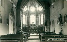 Cpsm Carte Photo VENTELAY 51 Intérieur De L' Eglise - Autres Communes