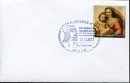 65129 Germany,special Postmark Nurnberg 21.5.2021 With Self Portrait Of Albrecht Durer - Other