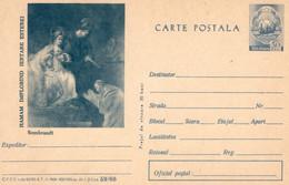 ROMANIA 1966: REMBRANDT PAINTING Unused Prepaid Stationery Card 59/1966 - Registered Shipping! - Interi Postali