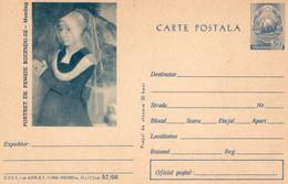 ROMANIA 1966: MEMLING PAINTING Unused Prepaid Stationery Card 57/1966 - Registered Shipping! - Interi Postali