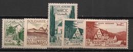 Maroc - 1948 - Poste Aérienne PA N°Yv. 65 à 69 - Complet 5 Valeurs - Neuf Luxe ** / MNH / Postfrisch - Poste Aérienne