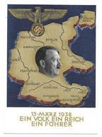 """GS - PROPAGANDA  AK  """"EIN VOLK EIN REICH EIN FÜHRER""""  1938 - Covers & Documents"""