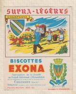 21/148 Buvard BISCOTTES EXONA CHAMPAGNE - Bizcochos