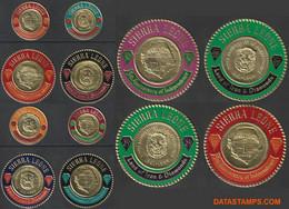 Sierra Leone 1966 - Mi:364/375, Yv:305/310 + PA 50/55, Stamp - XX - Gold Coins - Sierra Leone (1961-...)