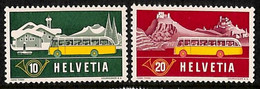 D - [811476]TB//**/Mnh-Suisse 1953 - N° 537/38, Poste Alpines, SC, Bus - Busses