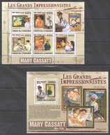 UC324 2009 UNION DES COMORES ART MARY CASSATT 1KB+1BL MNH - Impressionismus