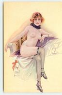 N°18012 - S. Meunier - Dans Le Demi-monde - Jeune Femme Nue Assise - Meunier, S.