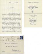 FACTURE-COURRIER- LETTRE : Correspondance A Boulogne Sur Seine , Lettre, Menu  , Jolie écriture. - 1900 – 1949