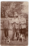 SPORT. CHASSE CARTE PHOTO. CHASSEURS. FUSILS. CHIENS. - Chasse