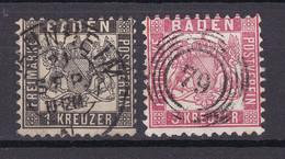 Baden - 1862/66 - Michel Nr. 17/18 K2/N5 - Gestempelt - Baden