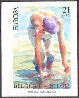 D - [853241]TB//ND/Imperf-c:50e-Belgique 2001 - N° 2989, ND/Imperf, L'eau, Richesse Naturelle, Europa-Cept, Peinture - T - Nuevos