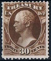 USA  Etats- Unis 1873 Treasury Stamps 30c Brown  MNH Without Gum Timbres Du Trésor Brun 30c Neuf Sans Gomme Scott 081 - Vari