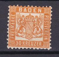 Baden - 1862 - Michel Nr. 22 B - Ungebr. - 40 Euro - Baden