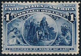USA  Etats- Unis 1893  1c  Deep Blue Columbus  MNH  Dècouverte De L'Amerique  1c Colomb Neuf **  Scott 230 - Vari