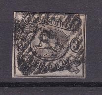 "Braunschweig - 1853 - Michel Nr. 8 BNS ""8"" BRAUNSCHWEIG - Gestempelt - 110 Euro - Brunswick"