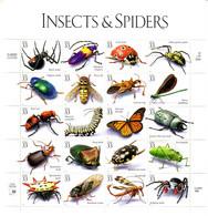 USA MI-NR. 3192-3211 POSTFRISCH(MINT) KLEINBOGEN INSEKTEN UND SPINNEN 1998 INSECTS & SPIDERS - Ragni