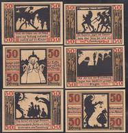 Naumburg 6 Stück á 50 Pfennig Banknoten Notgeld 1920  (65296 - Zonder Classificatie