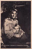 ATTORI CINEMA- AMEDEO NAZZARI E VALENTINA CORTESE-CARTOLINA Fotografica  - FP- ANNI 40- - Actors