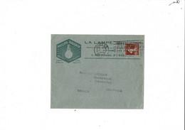 Enveloppe  LA LAMPE PHILIPS  PARIS 1928 - 1921-1960: Modern Period