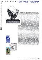""""""" 100 ANS DU PARIS-ROUBAIX """" Sur Document Philatélique Officiel  De 2002 N°YT 3481. Parfait état. DPO - Cyclisme"""