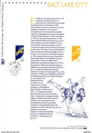 """"""" J.O. DE SALT LAKE CITY """" Sur Document Philatélique Officiel De 2002 N° YT 3460. Prix à La Poste = 5.00 € DPO - Documents De La Poste"""