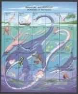 PK023 1993 PALAU MARINE LIFE MONSTERS OF THE PACIFIC #633-57 MICHEL 22 EURO SH MNH - Préhistoriques