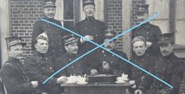 Photo ABL BEVERLO 1913 Groupe Officier + Noms + Tués à La Guerre Et Fusillés Armée Belge Belgische Leger - Oorlog, Militair