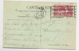 JEUX OLYMPIQUES 25C SEUL CARTE PARIS DEPART II.X.1924 - 1921-1960: Periodo Moderno