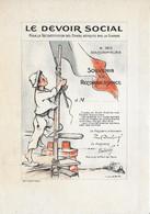 Pub - LE DEVOIR SOCIAL - Bulletin De Souscription - POULBOT - Années 1920 - Pas Carte Postale - - Poulbot, F.