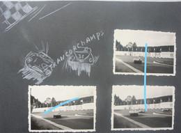 Photox3 FRANCORCHAMPS Région Stavelot Hockai Spa Burnenville Circa 1955-60 Course Auto Automobile Oldtimer - Cars