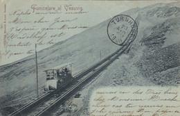 NAPOLI-FUNICOLARE DEL VESUVIO-CARTOLINA  VIAGGIATA IL 23-4-1900 - Napoli