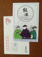 Salute Frontline Staff,red Cross Soldier,policeman,CN 20 Fight COVID-19 Novel Coronavirus Pneumonia Pre-stamped Card - Enfermedades