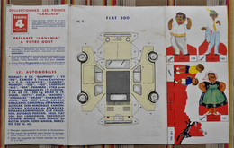 BANANIA BOITE Carton A Decouper  LES AUTOMOBILES   FIAT 500 - Pubblicitari