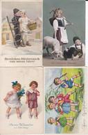 DC3627 - Ak Kinder 4 Karten Lot Kleiner Junge Kleines Mädchen Ostern Schaf Neujahrsgrüße Mädchen Im Kleid Blumenmädchen - Sonstige