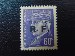 Très Beau N°. 4P** (numérotation Mayer) De La Libération De Roanne - Timbre Signé - Liberation