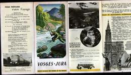 Depliant Touristique SNCF, Vosges Jura - Dépliants Turistici