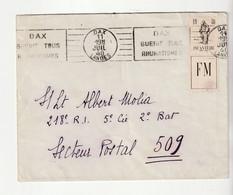 Rare Lettre  Avec Timbre De Franchise Militaire Infanterie N°10A - Cartas