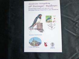 """BELG.2016 Boerenzwaluw-Hirondelle De Cheminée : """" BUZIN ( A5) - 1985-.. Oiseaux (Buzin)"""