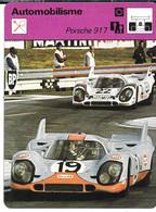 GF1972 - FICHE EDITION RENCONTRE - PORSCHE 917 - Altri