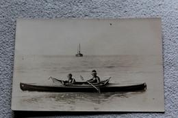 Carte Photo 1931, Berck, Balade En Canoé, Pas De Calais 62 - Berck