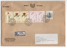 - Lettre Recommandée + Douane NICOSIA (CHYPRE) Pour RUEIL-MALMAISON (France) 21.11.1990 - Affranchissement Philatélique - Lettres & Documents
