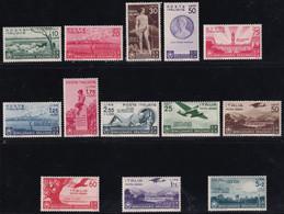 Regno D'Italia Orazio Con Posta Aerea 1936 Serie Completa Sass. 398/405 + A95/A99 MNH**/MH* Cv 319 - Neufs