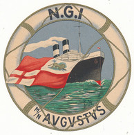 Anni 30 Navigazione Generale Italiana Adesivo Diametro 12 Moto Nave Augustus Nave Da Crociera - Pubblicitari