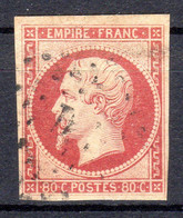 LA QUINZAINE DES TIMBRES EXCEPTIONNELS...N°17A Carmin Terne - 1853-1860 Napoleon III